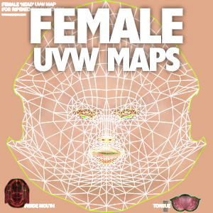 Female Character UVW Maps